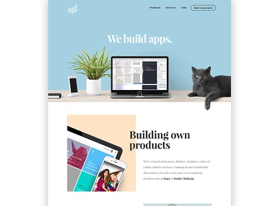 SmashTaps Homepage homepage minimal flat ui ux agency mobile apps web apps websites clean