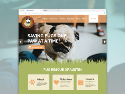Pug Rescue Mockup