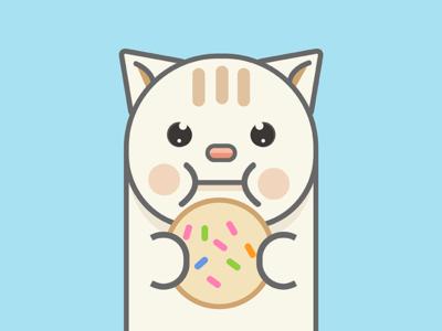 Cookie the Cat sweet feline cookie cat