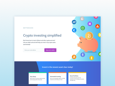 Daily UI 003: Landing Page landing page daily ui investing bitcoin cryptocurrency money landing