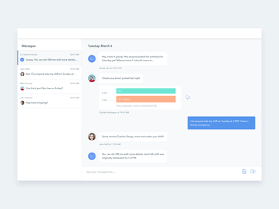 Daily UI 013: Messaging daily ui scheduling messages messaging
