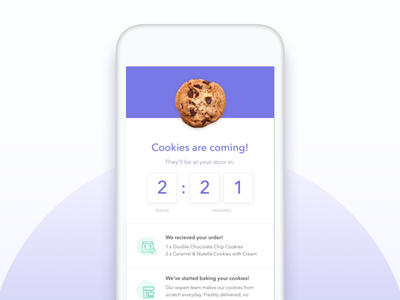 Daily UI 014: Countdown daily ui delivery cookies timer countdown