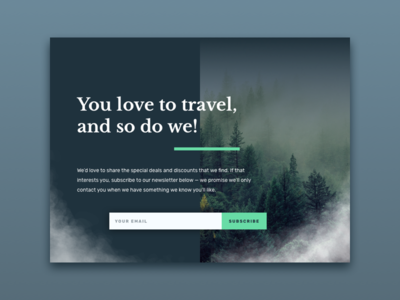 Daily UI 016: Pop-over daily ui forest nature travel modal pop-over