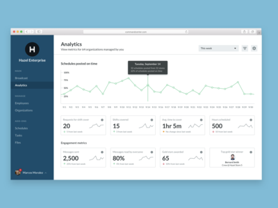 Analytics for enterprise users