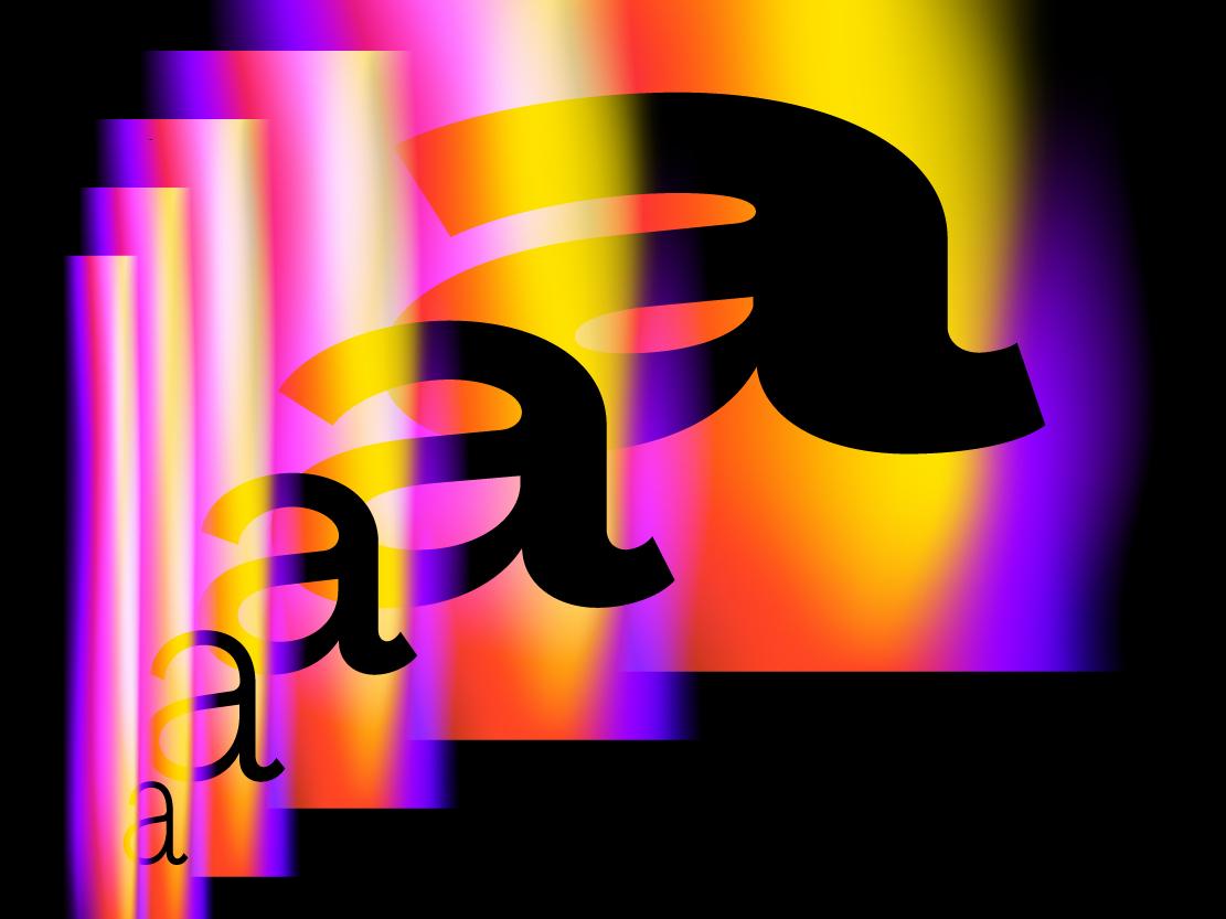 Serif variable fonts