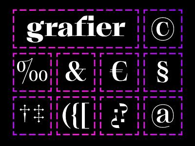 Grafier – Free Variable Serif Font behance logotype brand identity custom typeface custom type custom font modern font design trends trends display font text font web font font awesome gradients font download type designer font designer type design font design free typeface