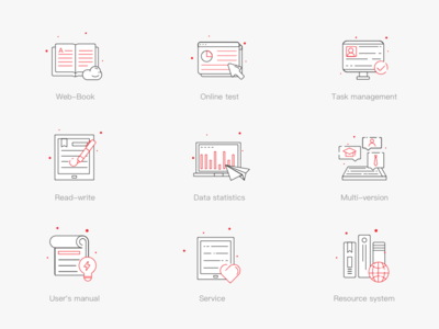 Linear Icons Education