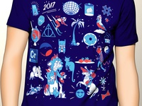 Character Collage T shirt