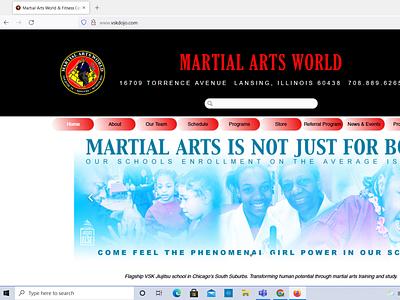 Martial Arts World website design web design website design