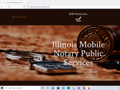 SSM Notary squarespace website design website web design design