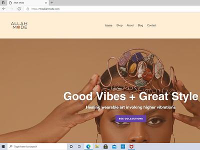 Allah Mode shopify website design website web design design