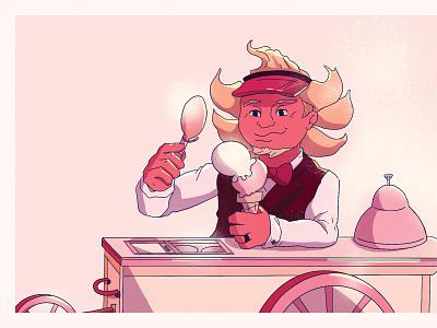 Summer Postcard Illustration illustration