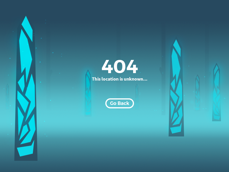 Daily UI #8 - 404 Page forest blue illustration ux ui daily ui 404 screen 404 404 page