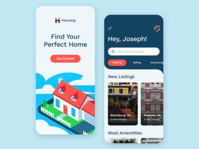 Howzing App Design Concept