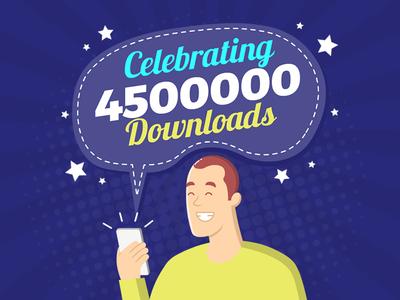 App Download Celebration Concept