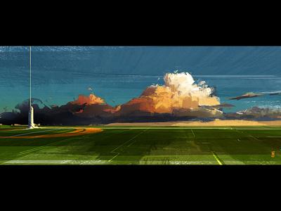 Landscape dailydesignchallenge art digital art design concept art illustration background design