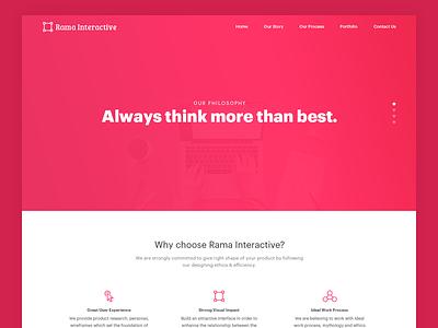 Rama Interactive Website Design - WIP logo branding website agency ux ui app web