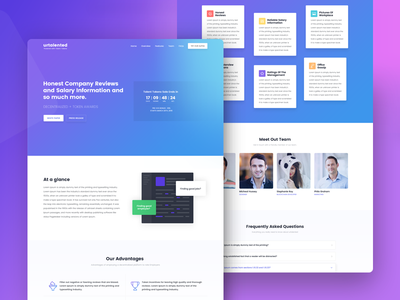 Urtalented - Landing Page hire job employee company office rating salary reviews token