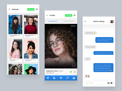 Dating App Design bride groom male city hobbies chat ios mobile app dating