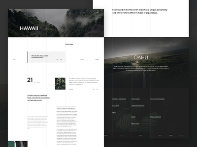Hawaii   Landing Page typography landing page landing website behance desktop design layout web ux ui