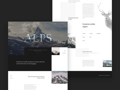 Alps - landing page landing page typography website behance desktop design web concept ux ui