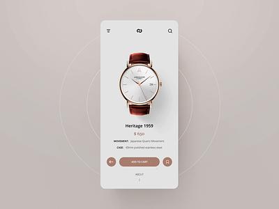 Watch Shop UI animation #1 after effect motion ecommerce mobile app layout design animation concept ux ui