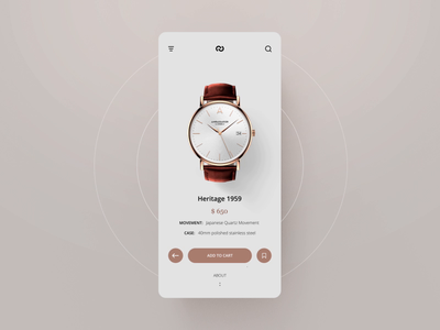 Watch Shop UI animation #1 after effect motion ecommerce mobile app layout design animation concept ux ui