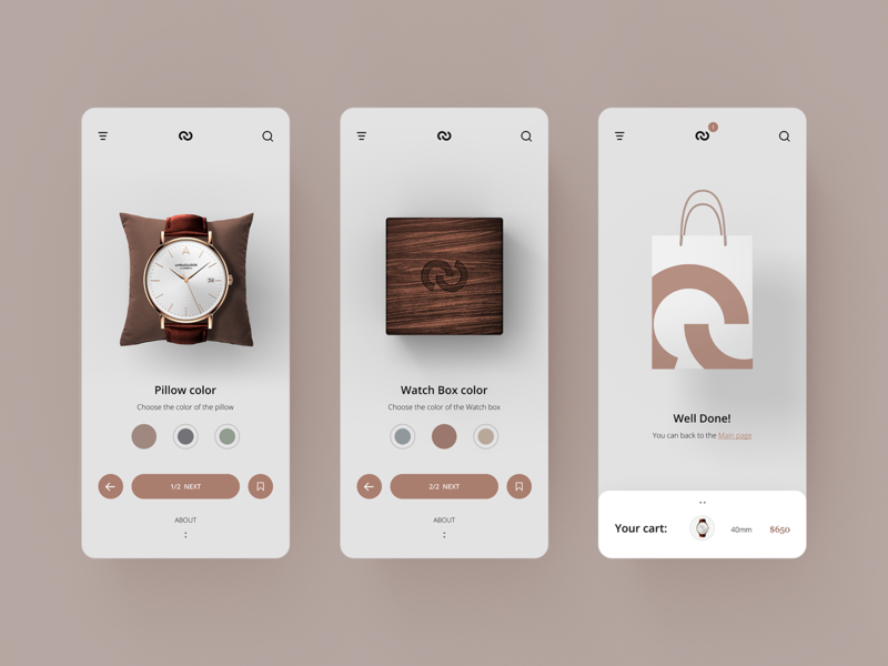 Watch Shop UI #2 add to cart ecommerce app ecommerce app layout design concept ux ui