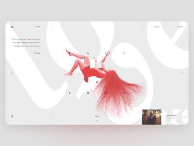 Fall in Love - scrolling animation typography scroll motion layout desktop web animation concept ux ui