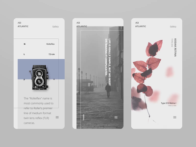 Atlantic - scrolling animation typography mobile app scroll motion minimal design layout animation concept ux ui