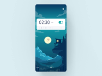 Alarm app animation #2 alarm illustration motion app mobile design layout animation concept ux ui