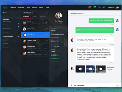 Message (free) download sketch free message free interface chat design site ios ux ui dashboard