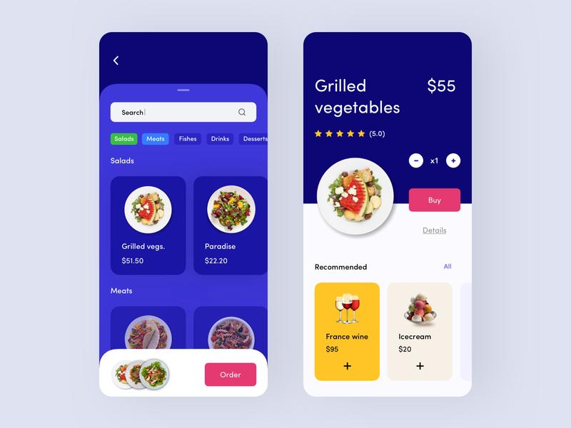 Food order design iphone x app clean mobile interface ux ui mobile app ios filter dish food food order