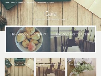 Gaia - WordPress Blog Theme magazine blog theme wordpress