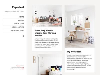 Paperleaf - Ghost Theme minimalism minimal theme ghost