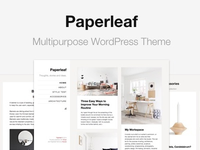 Paperleaf - Multipurpose WordPress Theme theme wordpress minimalism minimal simple clean