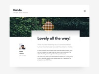 Nando - Minimal Blogging Theme
