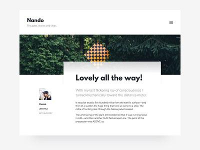 Nando - Minimal Blogging Theme simple ghost theme bloggers blogging blog minimal