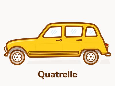 Renault Quatrelle renault r4 car illustration sketch