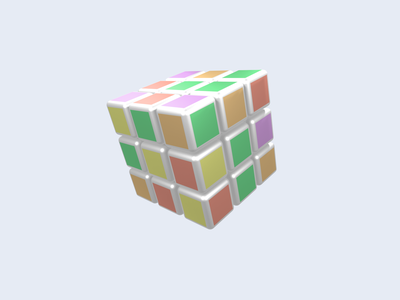 3D Modeling Rubik graphic design minimalist asset 3d 3d modeling branding 3d illustration vector logo design