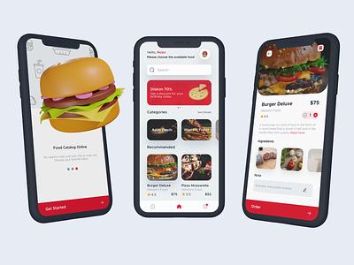 Food App red resto app food app food app mobile app mobile clean ui ux ui interface minimalist design