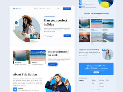 Trip Nation - Travel Landingpage tour website tour travel app travel website travel minimalist clean ui interface ux ui design