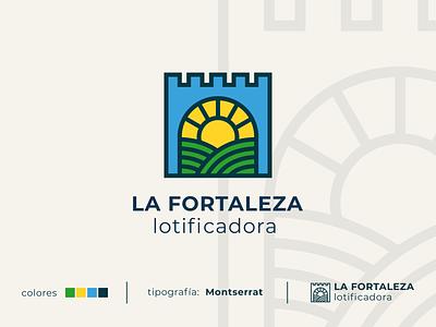 La Fortaleza real state line vector honduras logotype identity brand graphic design design graphic inkscape branding logo state real