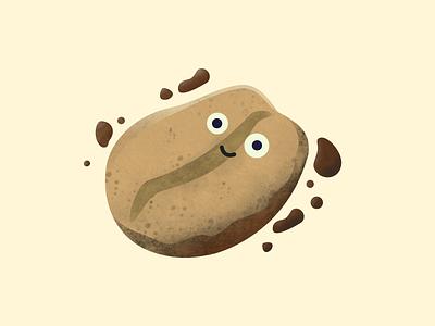 Coffito illustrated character honduras kawai character affinity vector illustration design