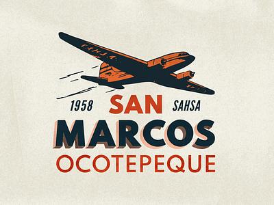 Visit San Marcos Ocotepeque retro texture old vintage designer affinity history typography illustration vector honduras design