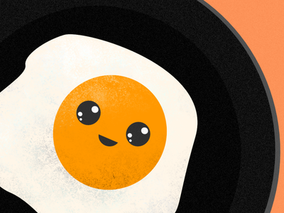 kawaii scrambled egg cute texture eggs egg kawaii cute graphic design character illustration vector honduras design