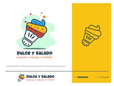 Sweet and Salty logo design inkscape honduras vector logo branding