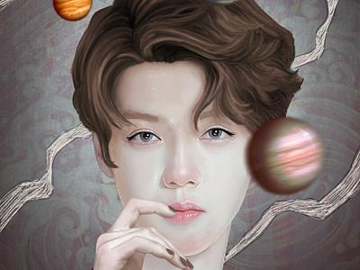 Planet Dream portrait illustraion characterdesign