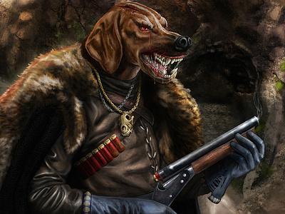 Hunter game illustraion characterdesign