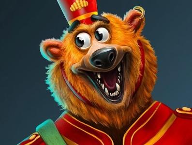 Buddy Bear 2d art illustration illustrator game concept art characterdesign